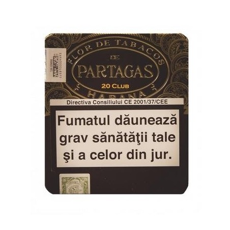 Tigari de foi Partagas Club Tin 20 Limited 2013