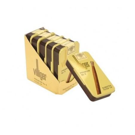Tigari de foi Villiger Premium No.6 Sumatra Tin