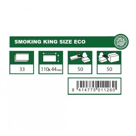 Foite de rulat tigari Smoking King Size Eco