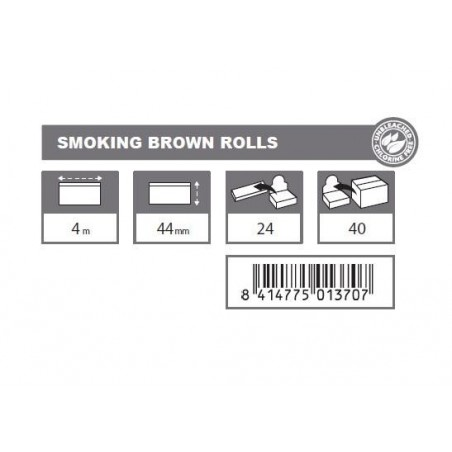 Foita in rola Smoking Brown Rolls