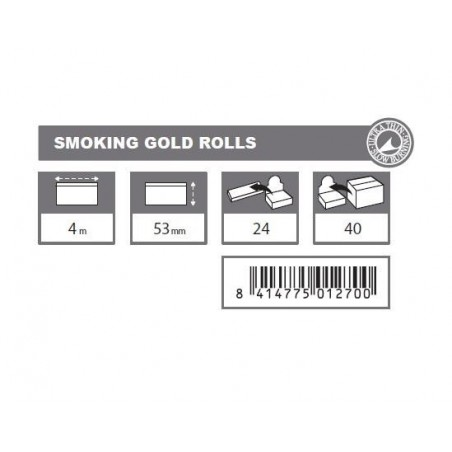 Foita de rulat  in rola Smoking Gold Rolls