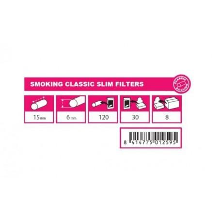 Filtre tigari Smoking Classic Slim
