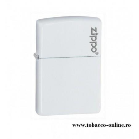 Bricheta Zippo White Matte Zippo Logo
