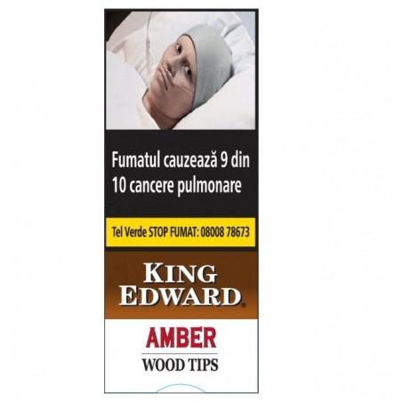 Tigari de foi King Edward Wood Tips Amber 5