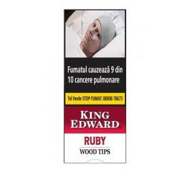 Tigari de foi King Edward Wood Tips Ruby 5