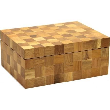 Humidor trabucuri Angelo Matte Brown Checkered 920027
