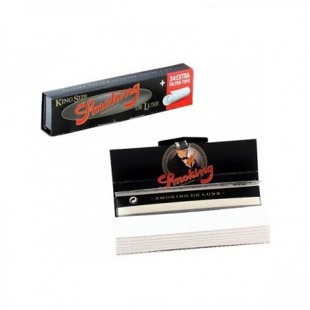 Foite de rulat Smoking King Size Deluxe cu filtre
