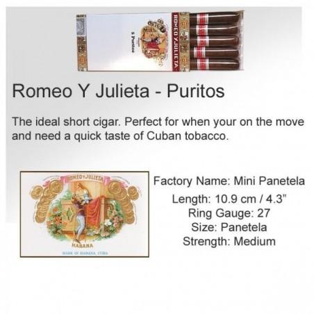Tigari de foi Romeo y Julieta Puritos 5