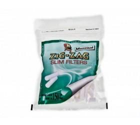 Filtre tigari Zig Zag Menthol Slim 150