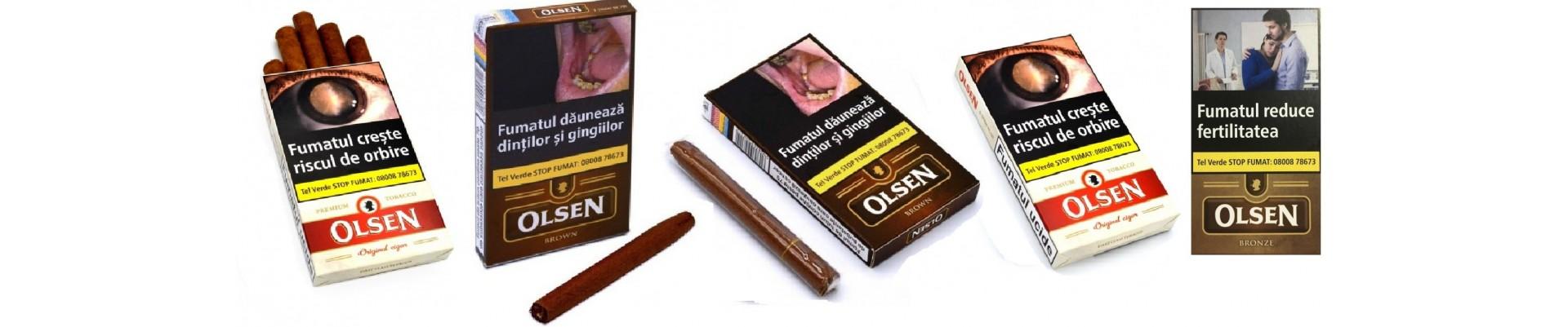 Magazin cu tigari de foi Olsen diverse arome.Cumpar tigari de foi Olsen cu livrare din stoc.Cele mai bune preturi la tigari de foi Olsen Original sau Olsen Vanilie