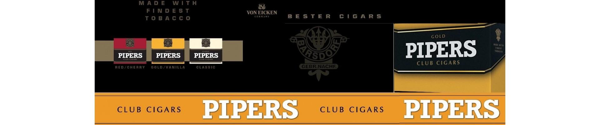Magazin cu tigari de foi Pipers de vanzare.Tigari de foi cu arome Pipers la cele mai bune preturi.Cumpar tigari de foi Pipers Club cu livrare din stoc.